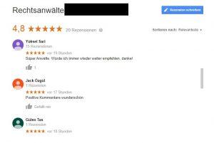 google bewertungen mit türkischen namen